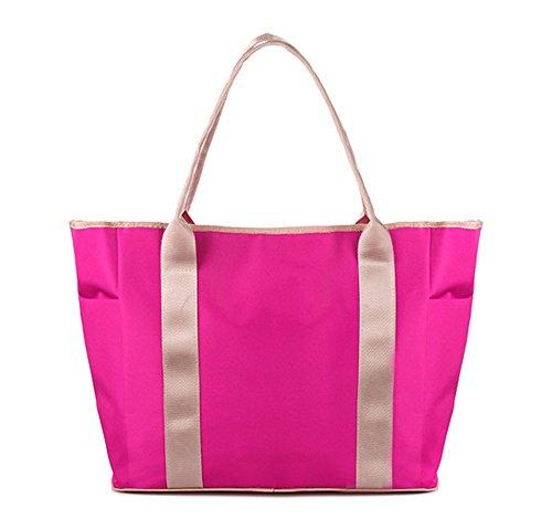 Multi-functional Tonwhar tamaño grande de recambio de alta capacidad de poner bolsa para la compra multi-bolsillo para la placa de - rosa (b)