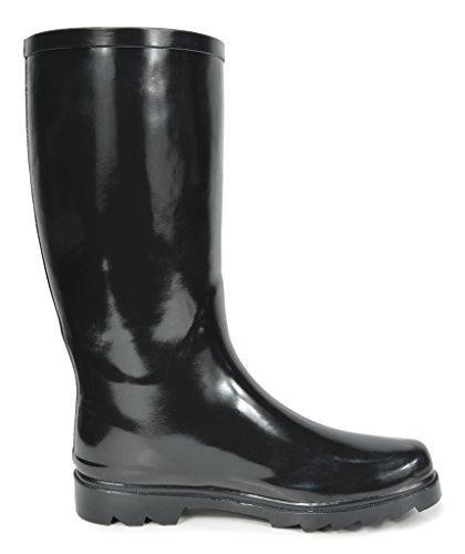 Black Women's Knee High arctiv8 Rainboots Snow Rubber Winter n0dwgx