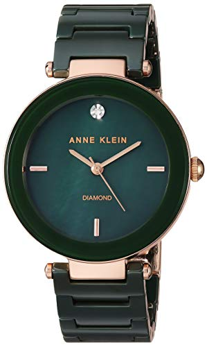 Anne Klein Women's AK/1018 Diamond-Accented Bracelet Watch