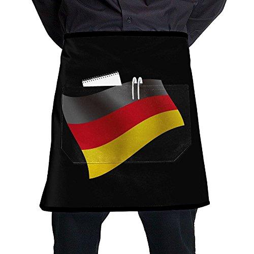 C-JOY Tilt German Flag Apron With Pocket Half Pinafore For Men Women (Tilt Girls Shorts)
