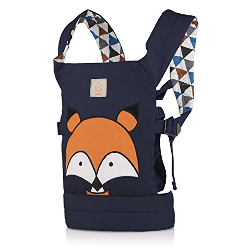 GAGAKU Doll Carrier Front and Back Soft Cotton for Kids Boys Girls Over 18 Months, Animal Series - Blue Fox