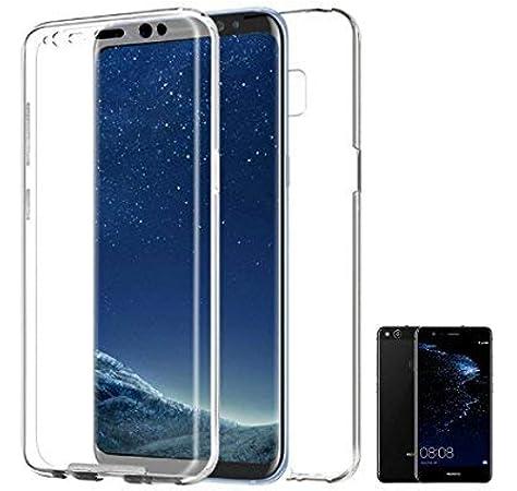PLANETMOVIL ® Huawei P10 Lite Funda DE Silicona Delantera + Trasera RIGIDA Doble 100% Transparente: Amazon.es: Electrónica
