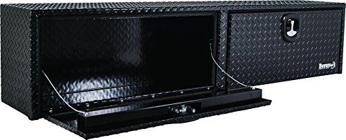 Buyers Products Black Diamond Tread Aluminum Topsider Truck Box w/T-Handle Latch (16x13x88 Inch)