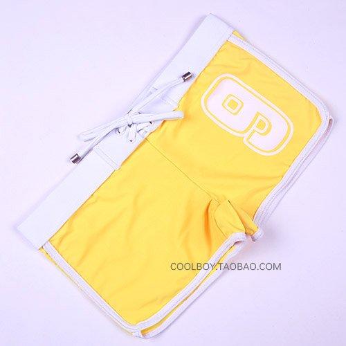 ZQ@QXMaillots de bain fashion Boxer de faible hauteur trunks ,Jaune,XL
