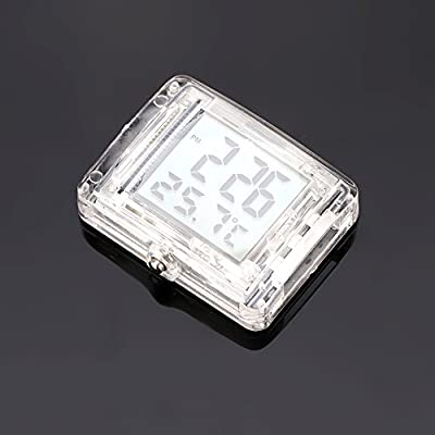 FORNORM Motorcycle Clock Waterproof Stick On, Luminous Clock with Backlight, 12H Format Time and Temperature Display: Home & Kitchen