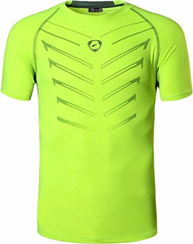 shirts Camicie Rapida Allenarsi Asciugatura Uomo Workout Jeansian Lsl189 T Poliestere Sportivo Greenyellow qH76BwR