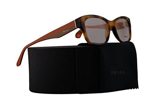 Prada PR24RV Eyeglasses 54-16-140 Light Havana w/Demo Clear Lens TKR1O1 VPR24R VPR 24R PR - Clear Prada Lens Eyeglasses