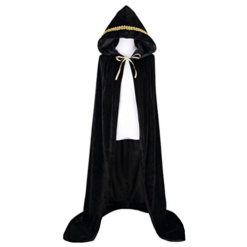 [Colorful House Unisex Full Length Velvet Hooded Cape Halloween Cloak ( 59