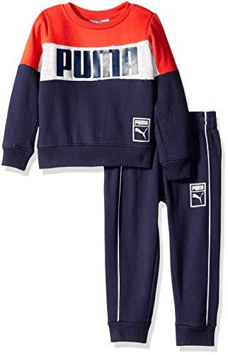 (PUMA Toddler Boys' Pullover Fleece Set, Ribbon red, 4T )