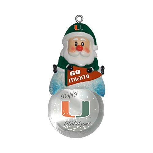 NCAA Miami Hurricanes Snow Globe Ornament -