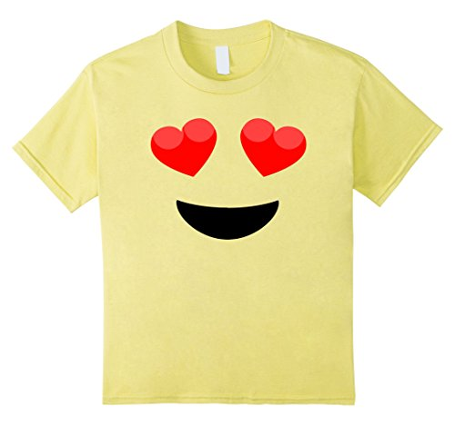 Kids Halloween Emoji Heart Eyes Costume T-shirt 8 (Heart Eye Emoji Halloween Costume)