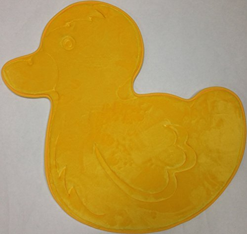 Incredibly Soft and Absorbent Kid's Memory Foam Bath Mat, 24 By 24-inch, Yellow Duck by WPM (Image #1)