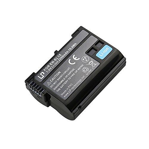 LP EN-EL15 EN EL15a Battery, Lithium-Ion Battery, Compatible with Nikon D500, D600, D610, D750, D800, D800e, D810, D810a, D850, D7000, D7100, D7200, D7500, 1 v1, Z6, Z7 Cameras, MH-25 MH 25a Charger
