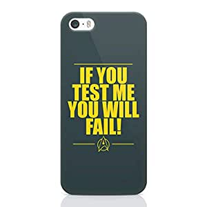Loud Universe Quote Star Trek iPhone SE Case Logo Quote iPhone SE Cover with 3d Wrap around Edges