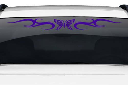 Sticky Creations - Design #134-01 Butterfly Tribal Swirl Swoosh Windshield Decal Sticker Vinyl Graphic Back Rear Window Banner Tailgate Car Truck SUV Van Trailer Wall | 36