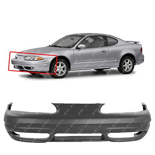 MBI AUTO - Primered, Front Bumper Cover Fascia for 1999-2004 Oldsmobile Alero 99-04, GM1000575 ()