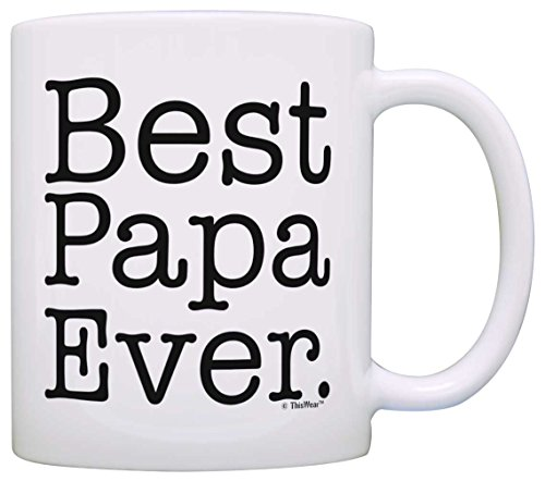 Father's Day Gift Best Papa Ever Birthday Gift Coffee Mug Tea Cup White