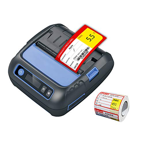 Thermal Receipt/Label 2 in 1 POS Printer Upgrade, 80mm Bluetooth Thermal Printer Compatible Android/iOS/Windows Small Business ESC/POS