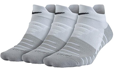 NIKE Women's Dry Cushion Low Socks (3 Pairs), White/Wolf Grey/Anthracite, ()