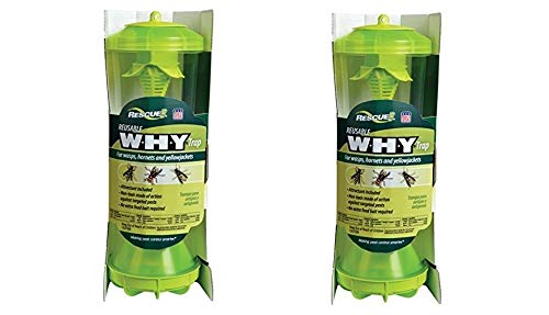 RESCUE Non-Toxic Reusable Trap for Wasps, Hornets and Yellowjackets (Pack of 2 by RESCUE