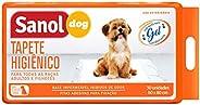 Tapete higiênico, Sanol Dog, 30 unid, Branco, Tamanho total 60cm X 80cm