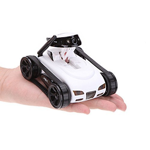 Maketheone Wireless Mini Rc Tank With 0 3Mp Hd Camera 777 270 Wifi Remote Control By Iphone  Ipad  Android White