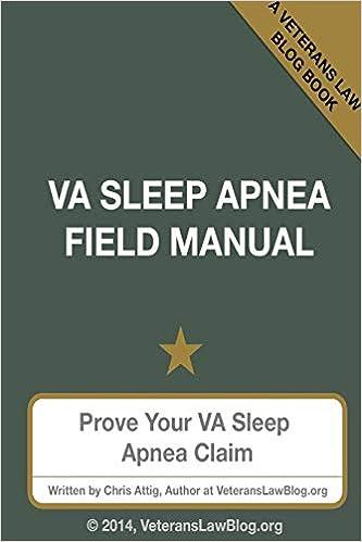VA Sleep Apnea Field Manual: Chris Attig: 9780991659494: Amazon com