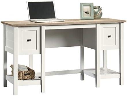 home, kitchen, furniture, home office furniture,  home office desks 9 on sale Sauder Cottage Road Desk, Soft White finish deals