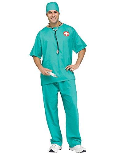Surgeon Scrubs Adult Costume-Std Mens Doctor