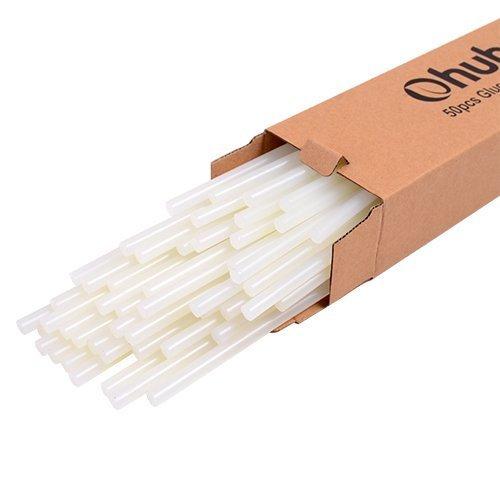 50 Stück, Ohuhu® Hot Melt Glue Sticks Klebesticks Heißklebesticks Heißklebestifte (transparent)
