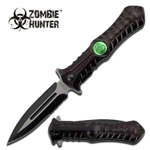 Walking Dead Toxic Biohazard Zombie War Fighting Folding Dagger Pocket Knife 3.5