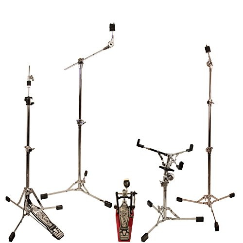 ChromaCast Retro Double Braced Drum Hardware Pack with Pro Series Chain Drive Pedal (CC-RS-KIT-2