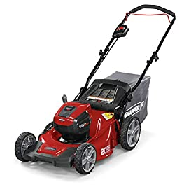 Snapper 2691565 HD 48V Max 20-Inch Self-Propelled Electric Cordless Tool Battery Lawn Mower 106 Up to 90 minutes of run time with 5. 0 Battery under light loads** 3-in-1 mulch/bag/side-discharge options on 20-inch steel deck Intelligent load sensing technology - allows for optimum power levels while you mow for maximum efficiency