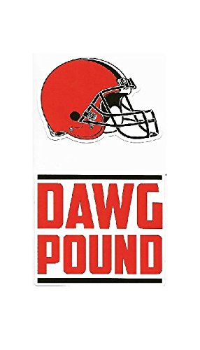 NFL Cleveland Browns Double Up Die Cut 2-Piece Sticker - Cleveland Car 2 Browns Piece