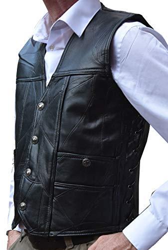 Garrison Grip CCW Genuine Buffalo Leather Ambidextrous Concealed Carry Vest (3XL 53.5