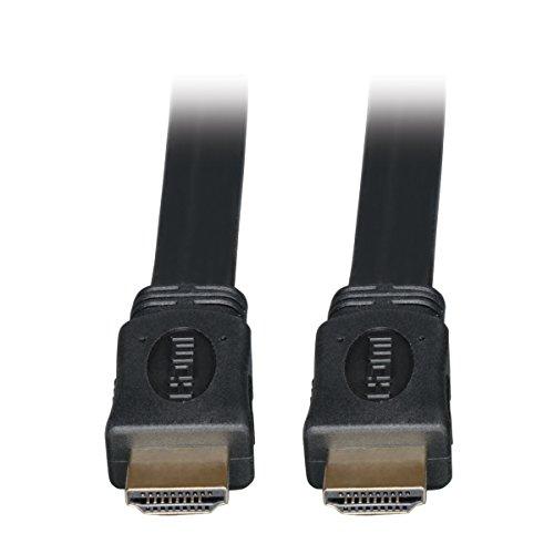 Tripp Lite High Speed HDMI Flat Cable, Ultra HD 4K x 2K, Digital Video with Audio (M/M), Black, 16-ft. (P568-016-FL)
