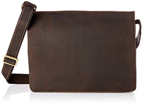 Visconti Visconti Leather Distressed Messenger Bag Harvard Collection, Mocha, One Size ()