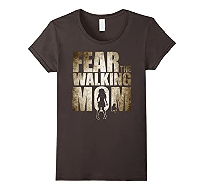 Women's Fear The Walking Mom Shirt, Mother's Day Mom Shirt Funny Dad
