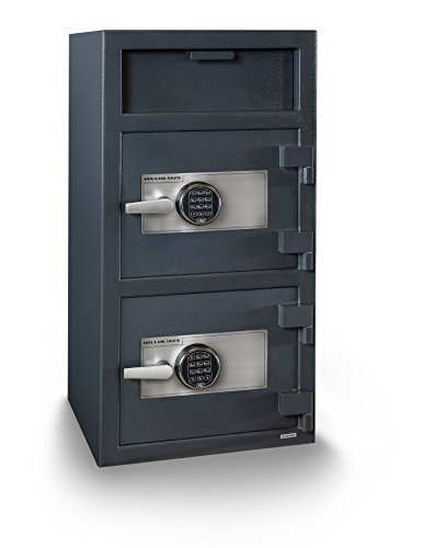 Hollon Safe FD-4020EE B-Rated Double Door Electronic Lock Depository - Electronics Rated