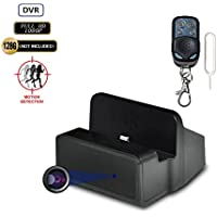 16GB FHD Hidden Spy Camera in Fully Functional Charging Dock Station with Motion Acitvated Spy DVR and 1080P Nanny Camera Recorder for Home Security System Covert DVR Spy Camera DVR