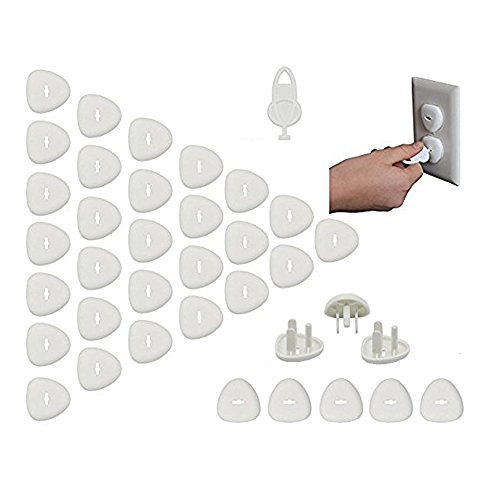 Outlet Covers - Baby Proofing Electrical Outlet Plug Covers For Kids Safety,Baby Child Proof Electrical Protector Safety Caps,Sturdy Childproof Socket Covers For Home & OfficeProtect Toddler (32 Pack) by Alysontech