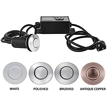 Superb Sink Top Air Switch Kit, Garbage Disposal Part Built Out Adapter Switch  (POLISHED