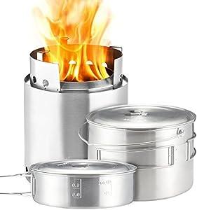 Solo Stove Campfire 2 Pot Set Combo