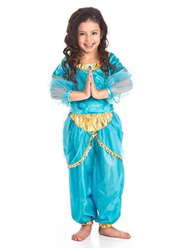 [Little Adventures Traditional Arabian Princess Girls Costume - Large (5-7 Yrs)] (Princess Tiana Disney Costume)