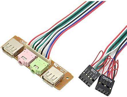 Fetcus Front Panel Audio Cable Baffle line Expansion USB Port 6.8cm for Computer