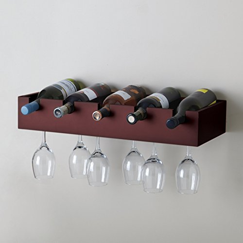 Kiera Grace Ellington Wine Rack, 10 by 23.75 by 4-Inch, Mahogany