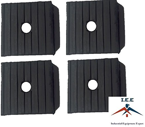 (4 Pack Medium Anti Vibration Isolation Pads Air Compressor Heavy Equipment 3x3x1)