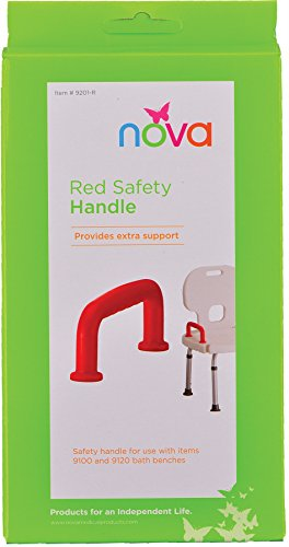 (NOVA Medical Products Safety Handle for Bath Bench, Red, 1 Pound)