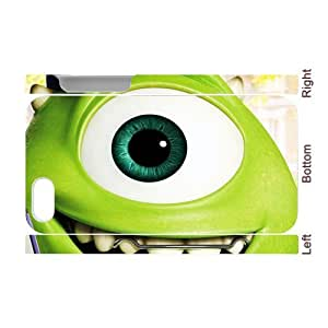 3D Printing Personalized Design of Animated Film-Monsters University by Pixar Background Fitted Hard Case Cover for iPhone4/4S- Cell Phone Accessories