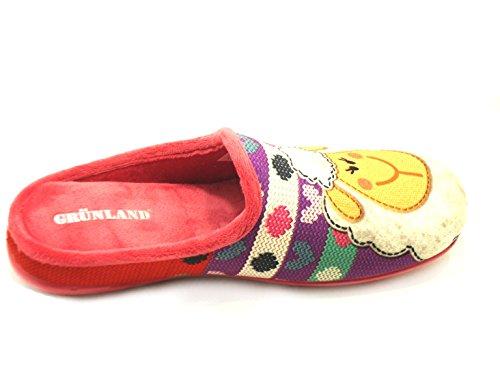 de Zapatillas casa por para GRÜNLAND mujer fucsia estar Terciopelo de rosa qHZwnPX